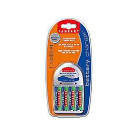 Panasonic Fameart Laddare incl. 4st AA-batterier